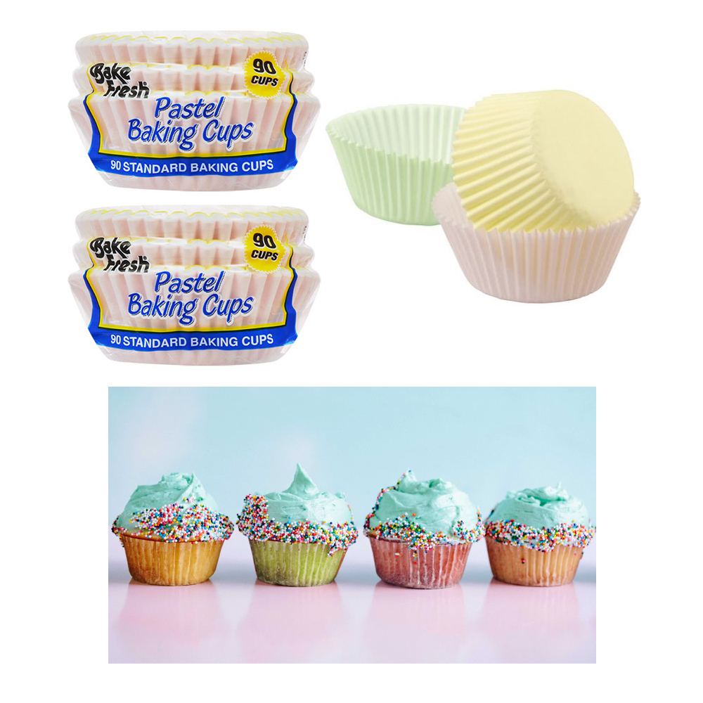 180 Baking Cups Pastel Color Cupcake Liners Bake Cake Muffin Cookie Decorations