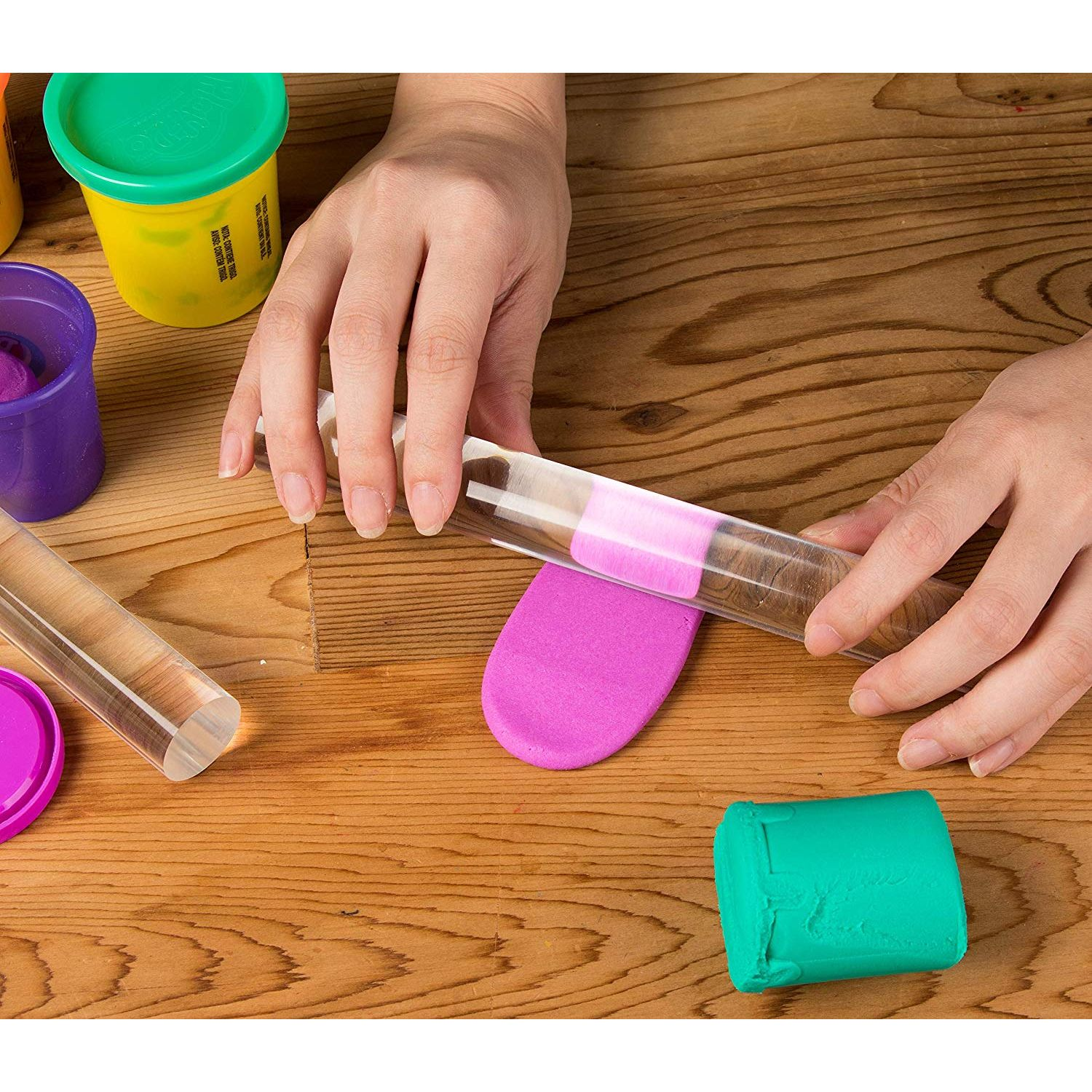 KORENJUL Acrylic Clay Roller Rolling Clay Bar Roll Stick Rod Rolling Pin for Shaping and Sculpting