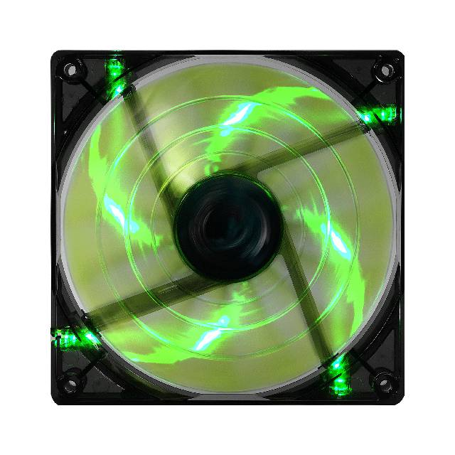 Aerocool SHARK120MMGREEN Shark 120mm Green Led Case Fan