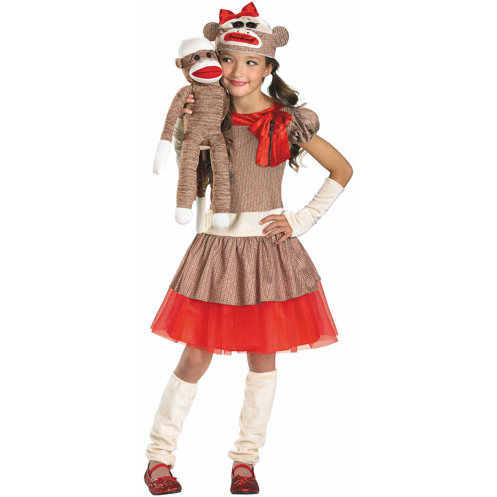 Sock Monkey Girl Child Halloween Costume  sc 1 st  Walmart & Sock Monkey Girl Child Halloween Costume - Walmart.com