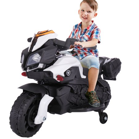 Jaxpety 6V Kids Ride On Motorcycle Battery Bicycle Electric Toy New White - Halloween Bike Ride Dc