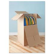 General Supply Brown Corrugated Wardrobe Moving/Storage Boxes, 24l x 20w x 46h, 5/Bundle