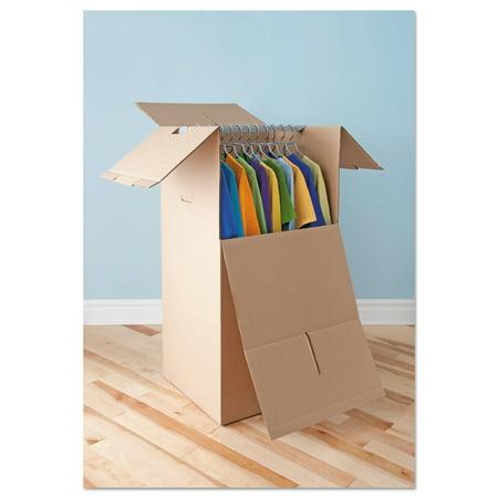 general supply brown corrugated wardrobe moving storage. Black Bedroom Furniture Sets. Home Design Ideas