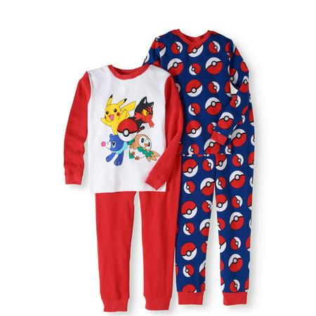 Pokemon Boys' Cotton Thermal 4-Piece Underwear Set - Misty Pokemon Outfit