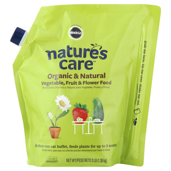 Miracle Gro Nature's Care Organic & Natural Fruit & Flower Food  Vegetable , 3 LB