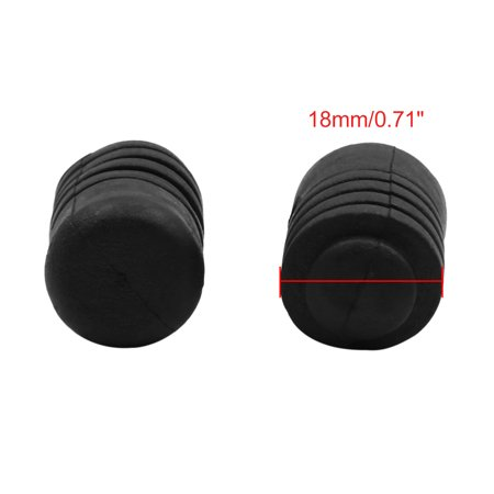 4pcs 18 x 33mm Black Buffer Mount Rubber Block Absorber for Car Door Trunk Hood - image 3 of 4