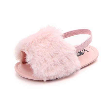 9b88f4a94 Marainbow - Marainbow Infant Baby Girls Soft Sole Shoes Plush Slide Sandal  First Walkers Anti-slip Walking Shoes - Walmart.com