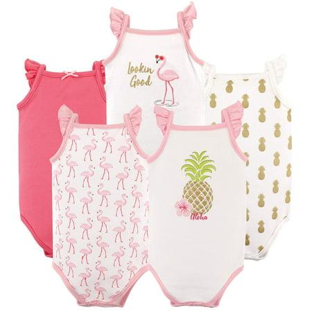 c642c164b Hudson Baby - Newborn Baby Girls' Sleeveless Bodysuits 5-Pack - Walmart.com
