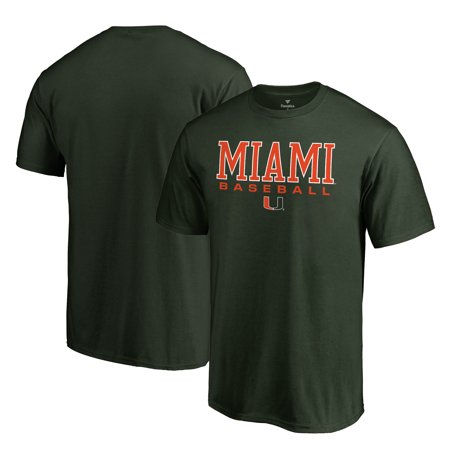 Miami Hurricanes Fanatics Branded True Sport Baseball T-Shirt - - Hurricanes Baseball
