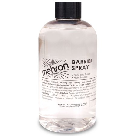 Barrier Spray Refill 9oz Mehron Fixing Setting Halloween Costume Spray Makeup