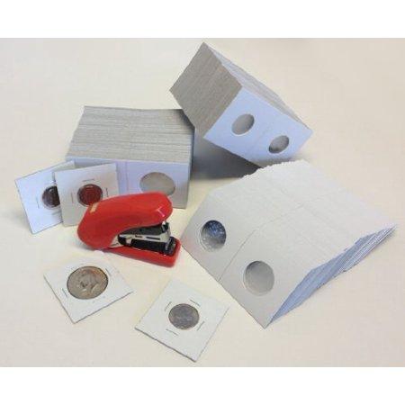 Holder Free Stopper - Coin Flips & Flat Clinch Stapler Bundle with Free Bonus Staples