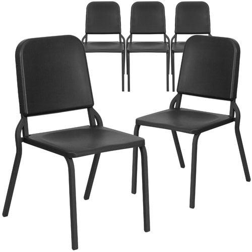 Flash Furniture 5pk HERCULES Series Black High Density Stackable Melody Band/Music Chair