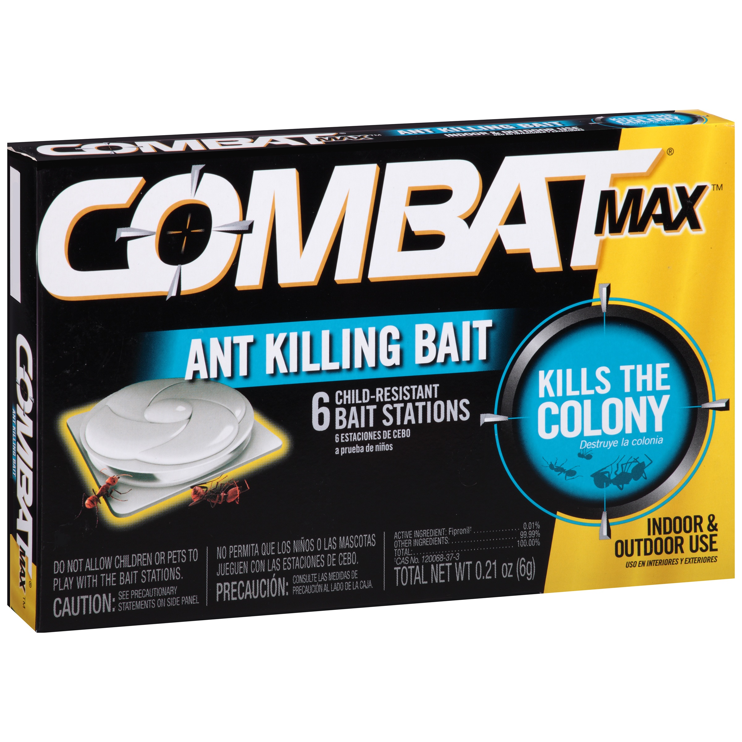 Combat® Max™ Indoor & Outdoor Use Ant Killing Bait Stations 6 ct Box