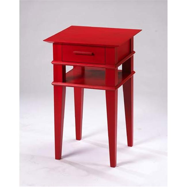 TLS by Design 1B-2004 Kensington Place Accent Table - Translucent Red
