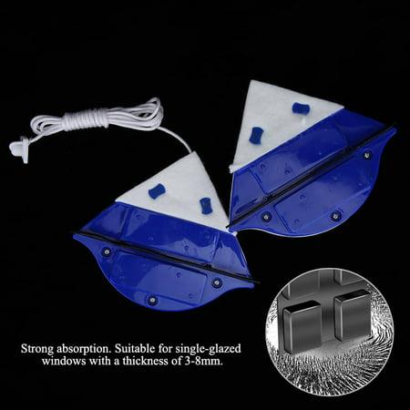 Sonew Outil de nettoyage de verre de fenêtre à la maison Surface d'essuyage de nettoyeur de brosse magnétique double face, Nettoyeur de brosse magnétique double face, Essuie-glace de brosse - image 7 de 8