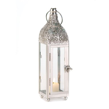 White Lanterns Candle, Rustic Antique Outdoor Small Ornate Candle Lantern - Rustic Lantern