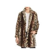 BB Dakota Womens Faux Fur Winter Coat Brown S
