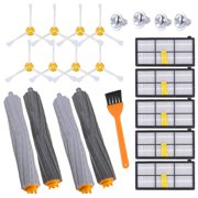 KEEPOW Replacement Parts for Roomba 800 & 900 Series 980 960 890 880 860 870 Robotic Vacuum, Replenishment Kit with 5 Hepa Filters, 8 Side Brushes, 2 Set Tangle-Free Debris Extractor