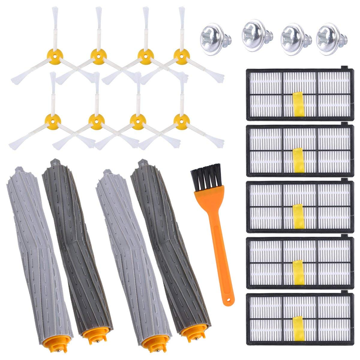 LOVECO 800 /& 900 Series Replacement Parts Kit for 860 870 880 890 960 980 990 Vacuum Cleaner,6 Filter,6 Side Brush,1 Debris Extractor in The Accessory Kit
