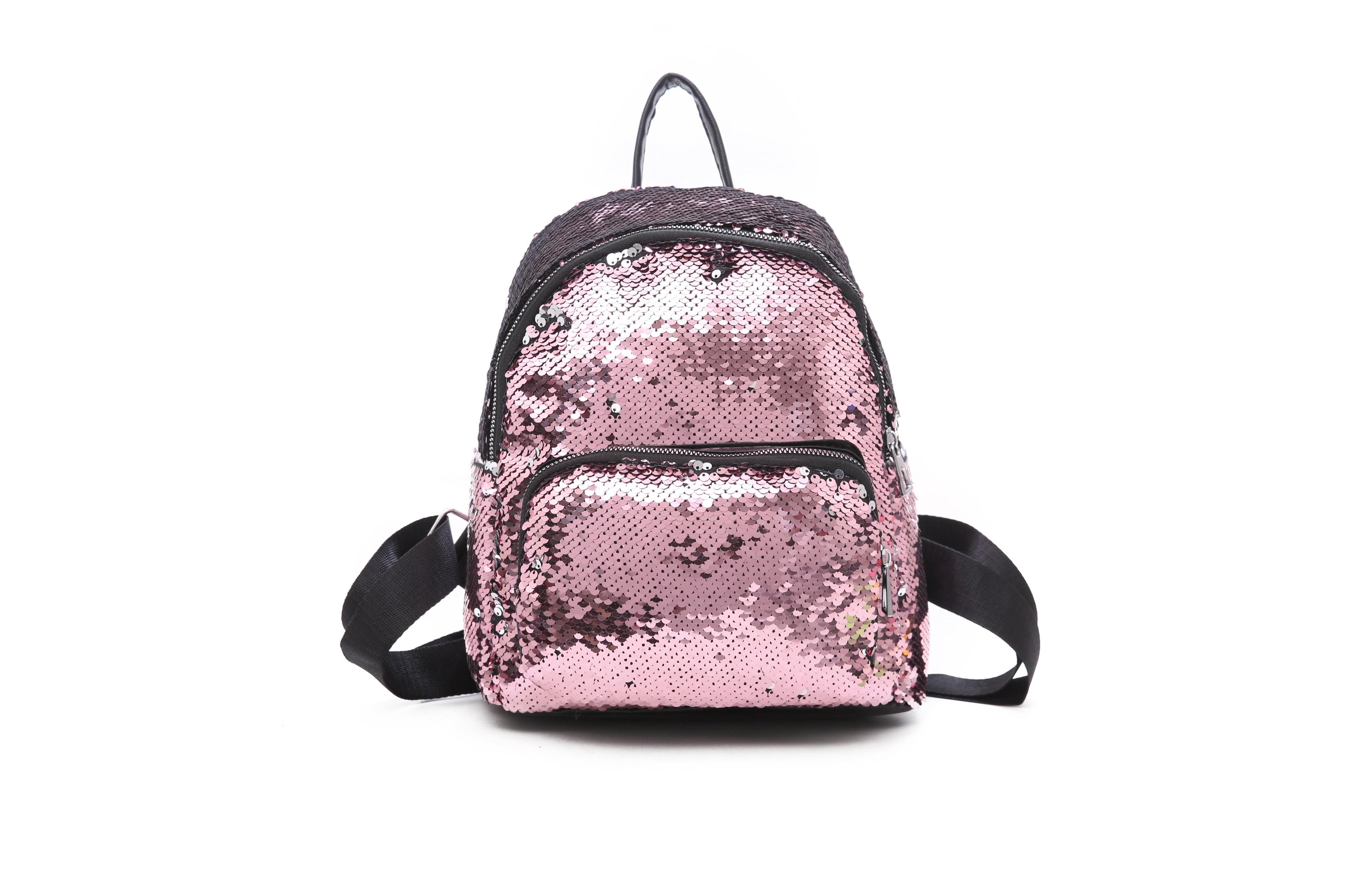 Emmababy - Women Girls Handbag Sequins Glitter Backpack Rucksack ... dcb43a7ffd60