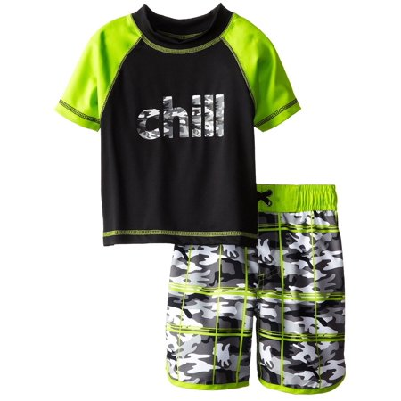 e7f2f2efa7 iXtreme - iXtreme Toddler Boy Swimwear Chill Surf Camo 2 Piece Rashguard Top  Board Trunk Swim Shorts Set size 3T - Walmart.com