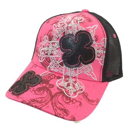 Cross Colors Hat (sanctify cross pink & black trucker hat)