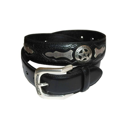 Harley-Davidson Mens Deputy Leather Belt HDMBT10006, Harley Davidson Coastal Harley Davidson Leather