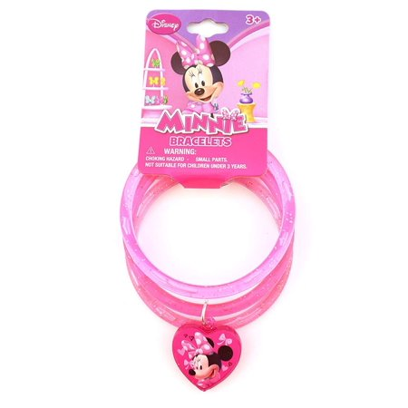 Disney Piglet Jewelry - Disney Disney Minnie Mouse Bowtique Pink Glitter Bangle Bracelets Novelty Character Fashion Jewelry