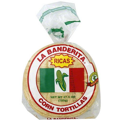La Banderita Yellow Corn Tortillas, 30ct (Pack of 12)