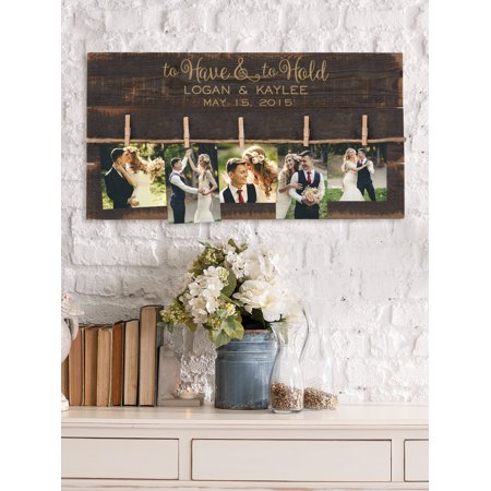 Personalized To Have and To Hold Wood Pallet Wall Art, Black ...