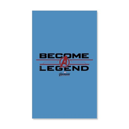 CafePress - Avengers Endgame Become A Legen - 20x12 Wall Decal - Avengers Wall Decal
