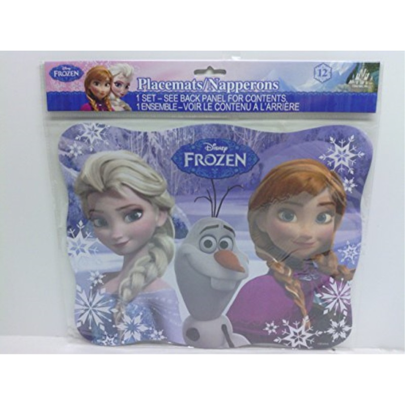 Disneys Frozen Party Placemats Pkg of 12 Anna, Elsa Olaf