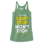 Stronger RX Light Green Cant Stop Wont Stop Tank Women Vest, Small