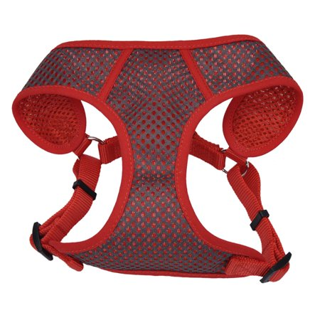 Comfort Soft Sport Wrap Adjustable Harness - Small - Grey With Red - Model 6485, Step-in with quick-release buckle for easy on/off. By Coastal Pet