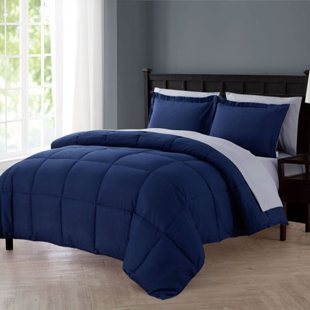 VCNY Home Lincoln Down Alternative 5/7-Piece Reversible Bed in a Bag Comforter Set, Sheet Set