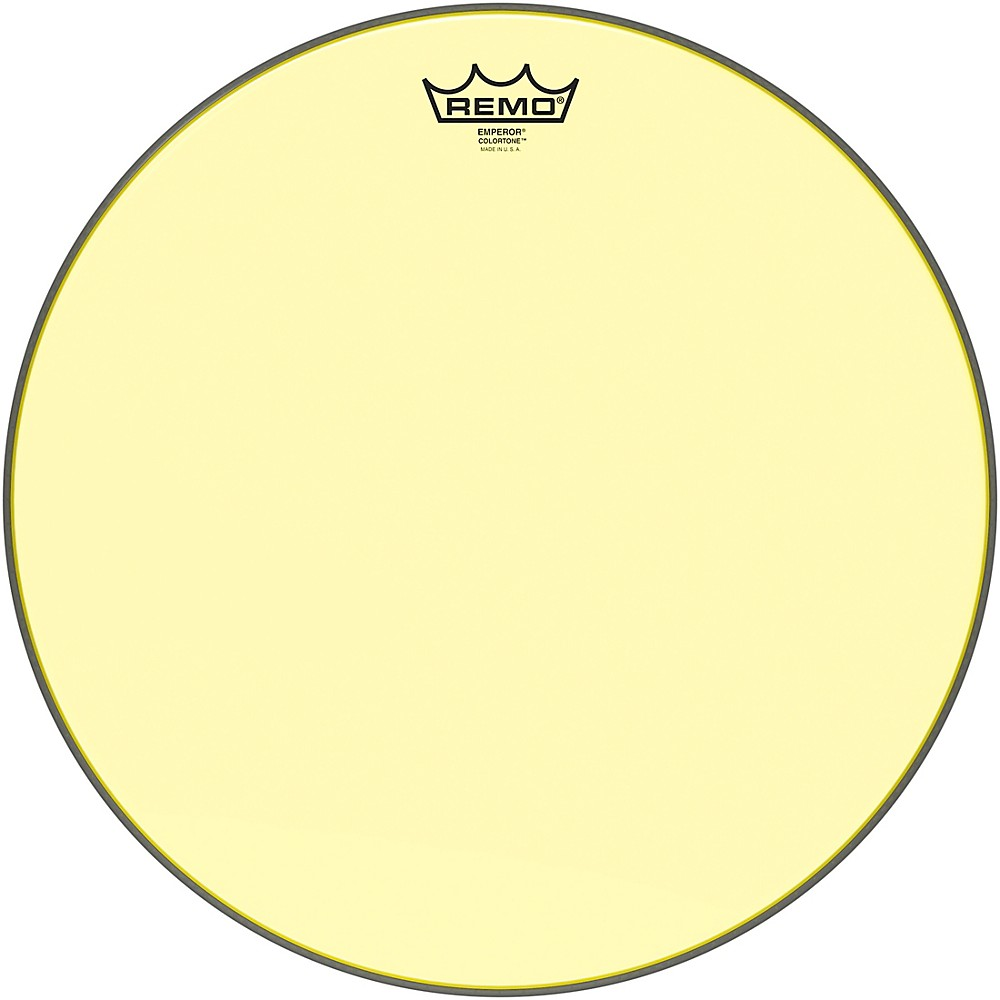 remo emperor colortone yellow drum head 16 in. Black Bedroom Furniture Sets. Home Design Ideas