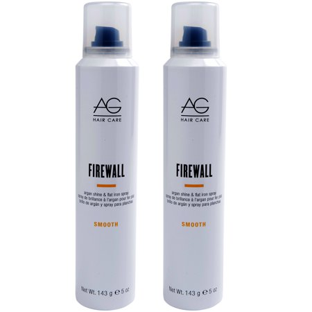 AG Hair Smooth Firewall Argan Flat Iron Hair Spray 5 oz - Pack of 2 ()