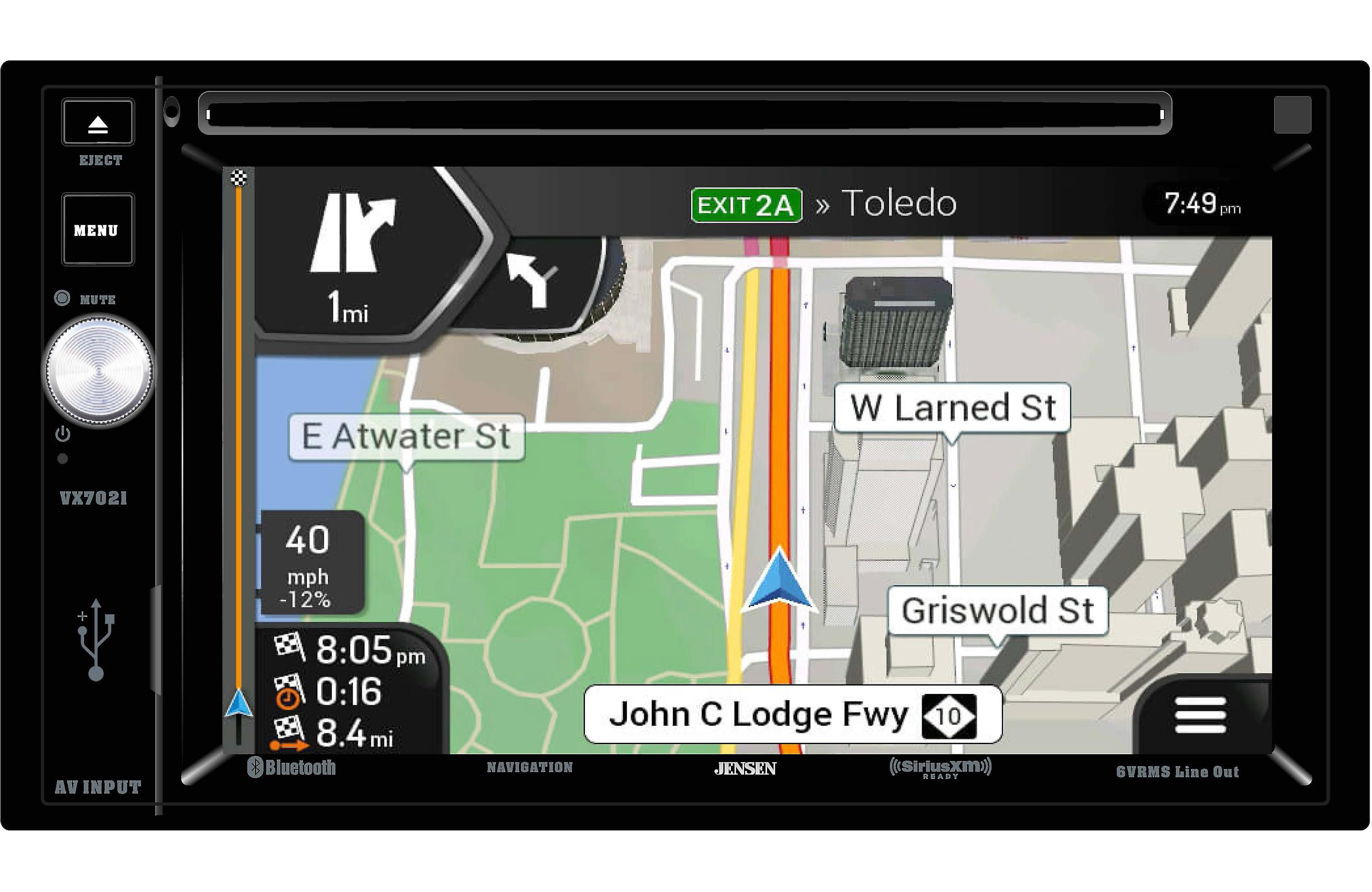 Jensen VX7021 2 DIN Navigation touch-screen by Jensen
