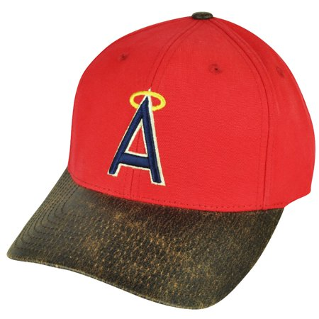 Anaheim Angels Cap - MLB American Needle Los Angeles Angels of Anaheim Sun Buckle Red Hat Cap Suede