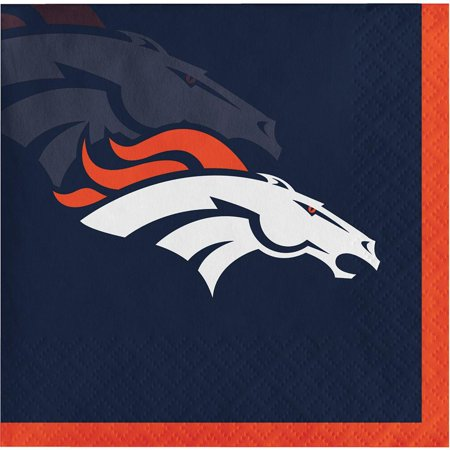Creative Converting Denver Broncos Beverage Napkins, 16 ct](Denver Broncos Halloween Party)