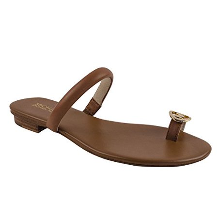 f69c8370767c1 MICHAEL Michael Kors - Michael Kors Women s Nora Toe Thong Leather Sandals  - Walmart.com