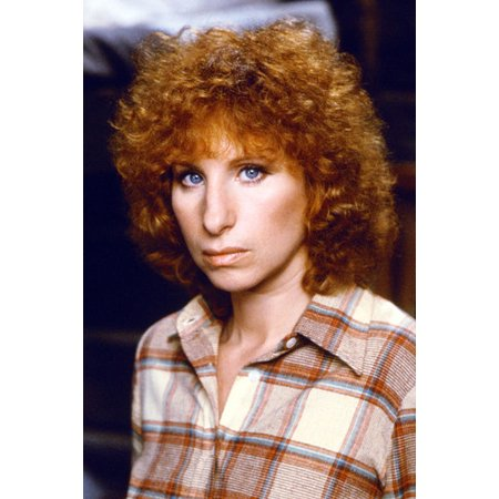 Barbra Streisand 24x36 Poster Pose in Checkered Shirt and Curly Hair - 1970's Hair