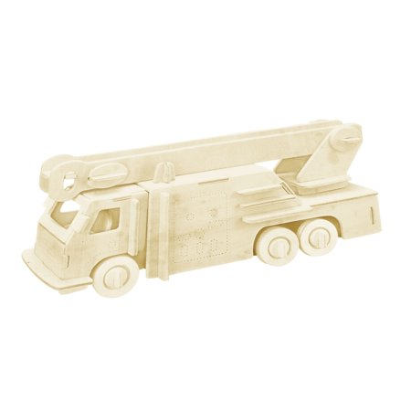 DIY Lover Wooden Assemble Fire Engine Model Construction Kit Toy - Toy Engine Kit