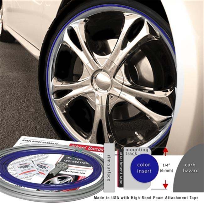 Wheel Bands WBRSBU Standard Silver Kit With Blue Insert