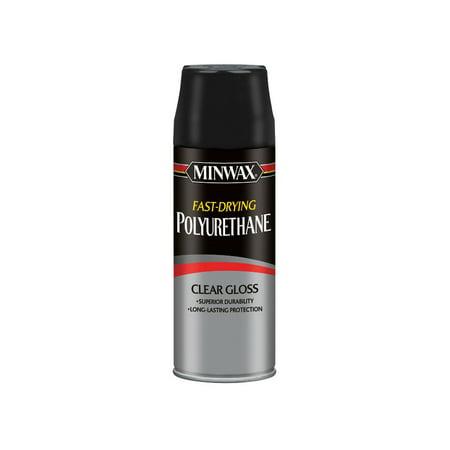 Minwax Fast Drying Polyurethane Aerosol Clear Gloss 11.5-Oz