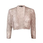 Marina Women's Long Sleeve Lace Jacket