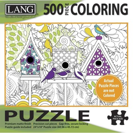 Art Tin - - 500 Piece Coloring Puzzle -