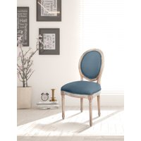 OSP Home Furnishings Lillian Oval Back Chair in Klein Azure Brushed Frame K/D
