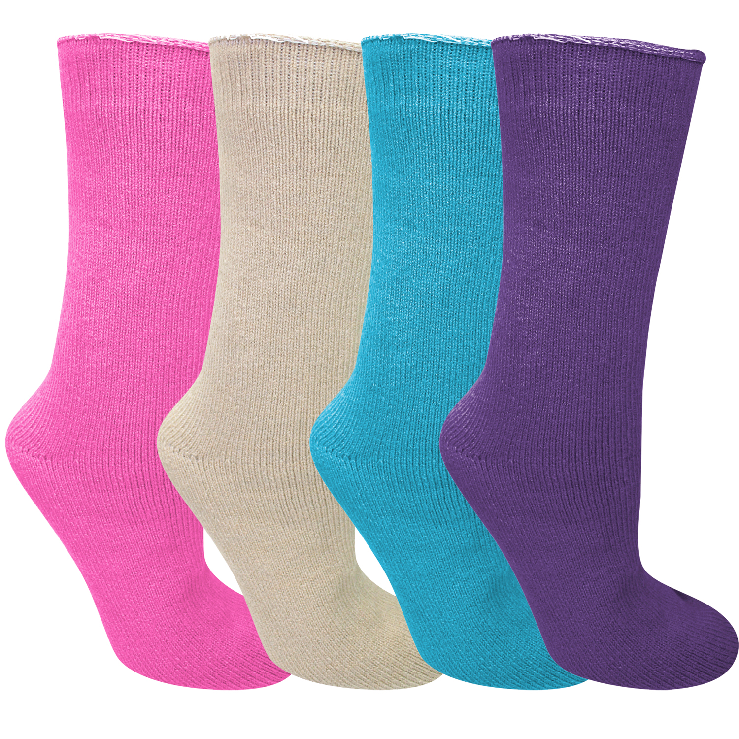 Bright Color Thick Thermal Heated Socks 4-Pack by Heated Socks