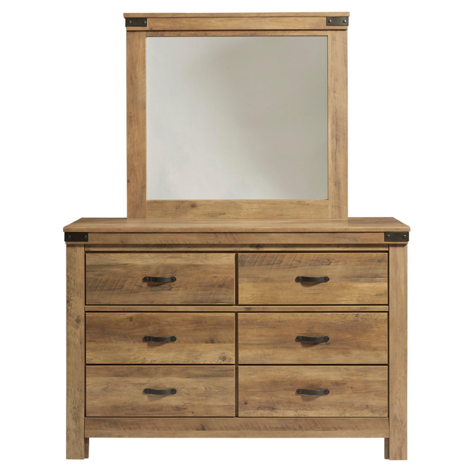 Standard Furniture Warren Youth 6 Drawer Dresser with Optional Mirror - Golden Pine